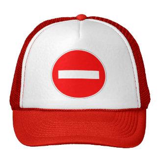prohibited direction trucker hat
