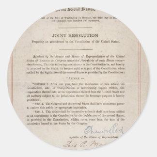 Prohibition 18th Amendment Stickers