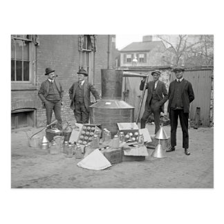 Prohibition Agents with Moonshine Still, 1922 Postcard