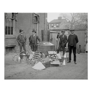 Prohibition Agents with Moonshine Still, 1922 Poster