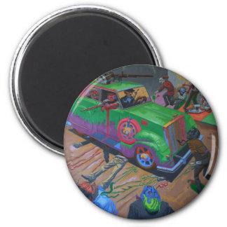 Prohibition Era 2 Inch Round Magnet