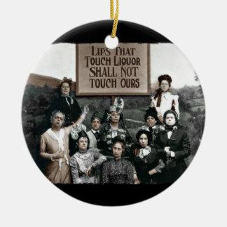 Prohibition Ladies Ceramic Ornament