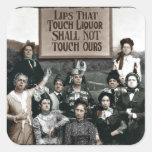 Prohibition Ladies Square Sticker
