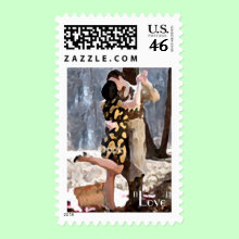 'Lovers' Stamp - Valentine's Day, Engagement Gifts, Anniversary Gifts, Bridesmaid and Usher Gifts, Great His and Hers!