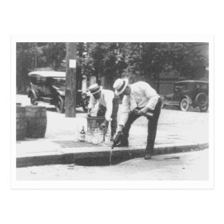 Prohibition Pouring Whiskey into a Sewer Vintage Postcards