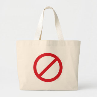 Prohibition Sign/No Symbol Canvas Bag