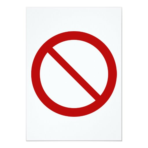 ProhibitionSign2_Vector_Clipart prohibition not 5x7 Paper Invitation Card