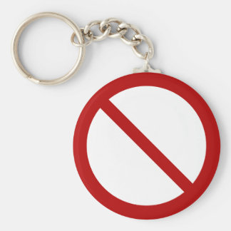 ProhibitionSign2_Vector_Clipart prohibition not Basic Round Button Keychain