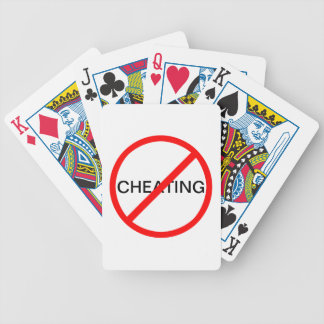 Prohibitory Sign: Cheating Forbidden Bicycle Playing Cards