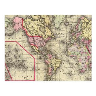 Proj 2 de Mercator del mundo Postales