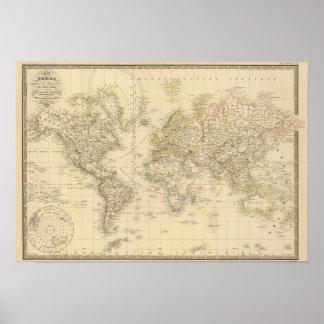 Proj de Mercator de la tierra Posters