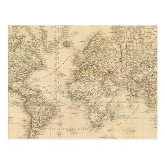 Proj de Mercator de la tierra Postal