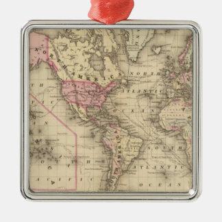 Proj de Mercator del mundo Ornamento De Navidad