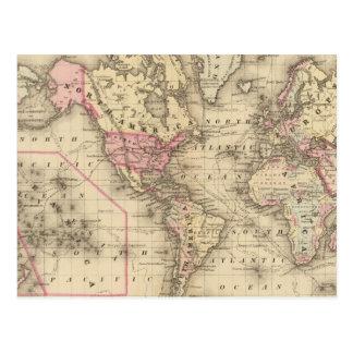 Proj de Mercator del mundo Tarjetas Postales