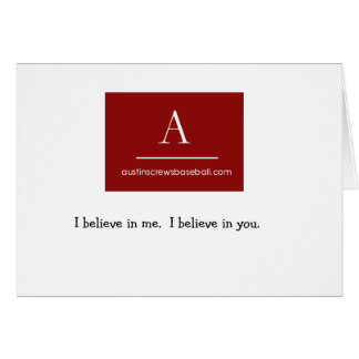 Project3, I believe in me.  I be... Card