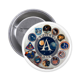 Project Apollo: The Composite Logo Pinback Button