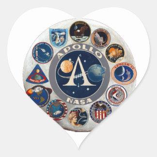 Project Apollo: The Composite Logo Heart Sticker