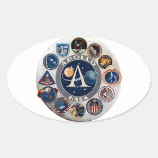 Project Apollo: The Composite Logo Oval Sticker