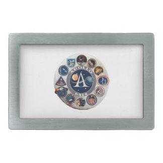 Project Apollo: The Composite Logo Rectangular Belt Buckle