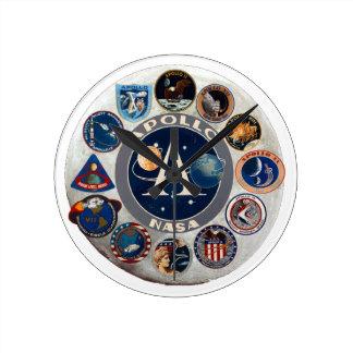 Project Apollo: The Composite Logo Round Clock