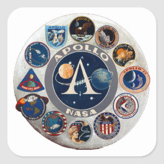 Project Apollo: The Composite Logo Square Sticker
