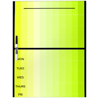 Project Days of the Week Yellow Note Board 37b Dry Erase White Board