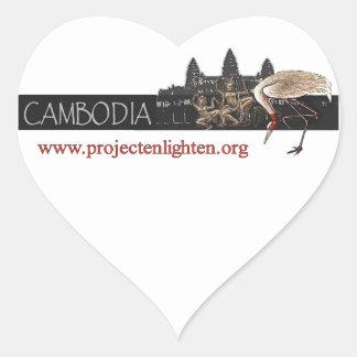 Project Enlighten Cambodia Sarus Crane Heart Sticker