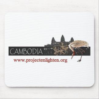 Project Enlighten Cambodia Sarus Crane Mouse Pad