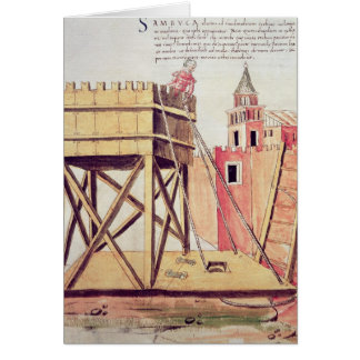 Project for a siege tower card