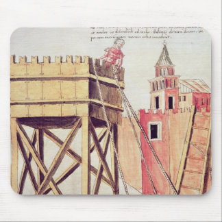 Project for a siege tower mouse pad