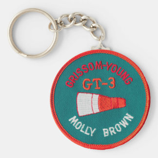 Project Gemini:  GT 3: Grissom / Young Basic Round Button Keychain