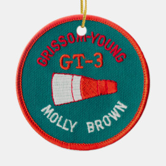 Project Gemini:  GT 3: Grissom / Young Double-Sided Ceramic Round Christmas Ornament