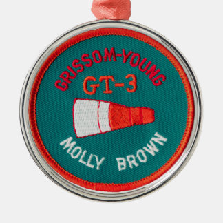 Project Gemini:  GT 3: Grissom / Young Round Metal Christmas Ornament