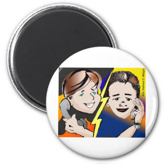 Project illustrates cap2 phone call CoPy drawing t 2 Inch Round Magnet