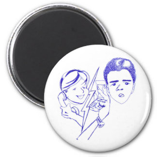 Project illustrates cap2 phone call gay 2 inch round magnet