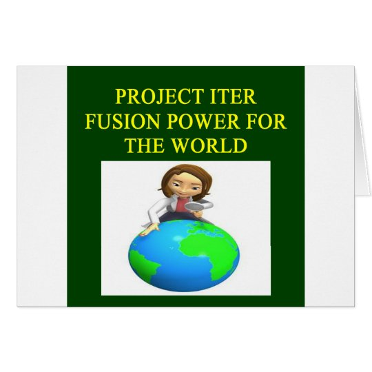 project iter nuclear fusion reactor card