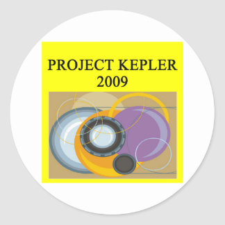 project kepler astronomy telescope round sticker