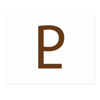 Project Limitless Logo - Brown Postcard