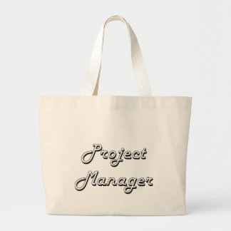 Project Manager Classic Job Design Jumbo Tote Bag