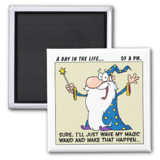 Project Managers Have Magical Powers 2 Inch Square Magnet