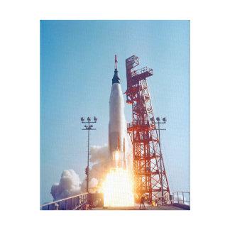 Project Mercury MA-9 Launch, Faith 7 Canvas Print