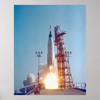 Project Mercury MA-9 Launch, Faith 7 Print