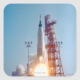 Project Mercury MA-9 Launch, Faith 7 Square Sticker