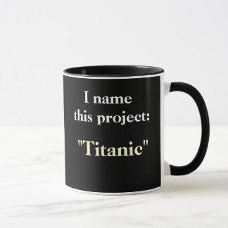 Project Name Motivational Humorous Project Mug