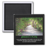 Project Plan - just make it match PowerPoint 2 Inch Square Magnet