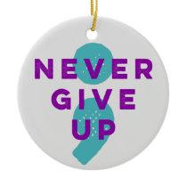 Project Semicolon Never Give Up Suicide Prevention Ceramic Ornament