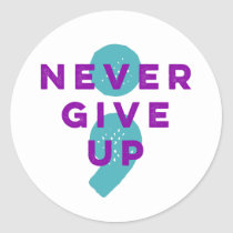 Project Semicolon Never Give Up Suicide Prevention Classic Round Sticker