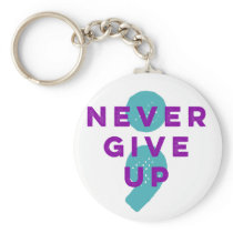 Project Semicolon Never Give Up Suicide Prevention Keychain