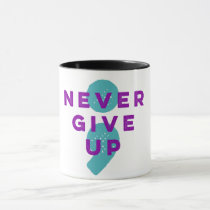 Project Semicolon Never Give Up Suicide Prevention Mug