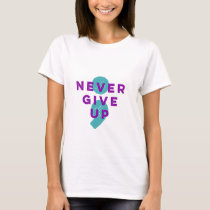 Project Semicolon Never Give Up Suicide Prevention T-Shirt